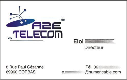 carte de visite A2E TELECOM