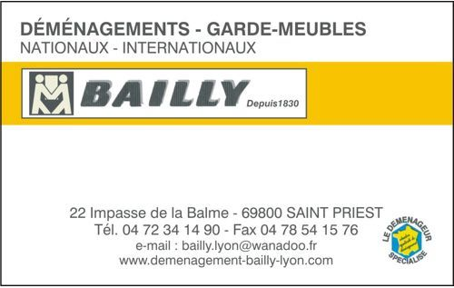 carte de visite BAILLY