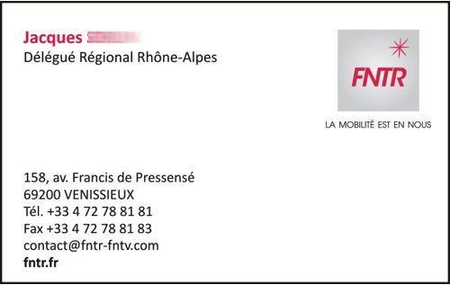 carte de visite FNTR