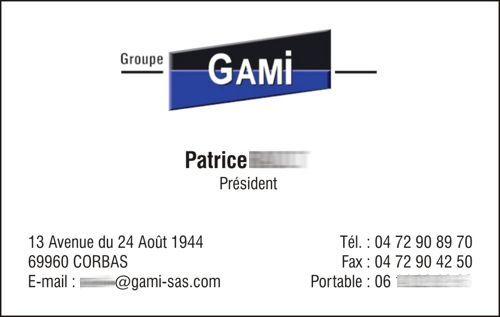 carte de visite GAMI