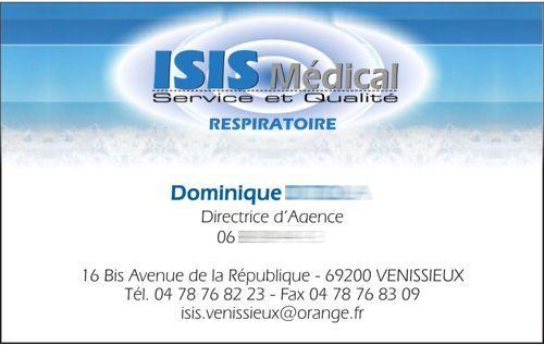 carte de visite ISIS MEDICAL