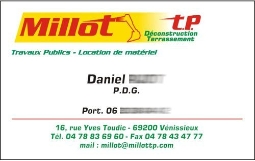 carte de visite Millot TP