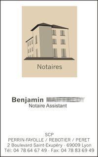 cartes de visite pour notaires
