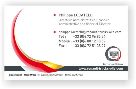 Carte De Visite Lyon Renault Trucks Small